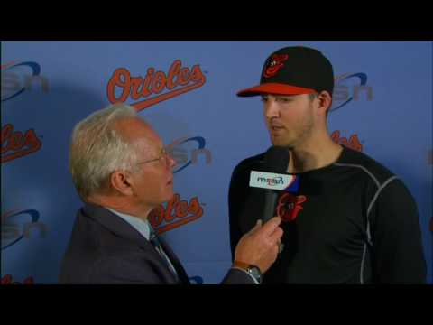 Kevin Gausman speaks after pitching six innings vs. the Twins