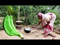 Kalar Chola Bata (Banana Skin Paste) by Grandmother | Delicious Indian Village Food Recipes