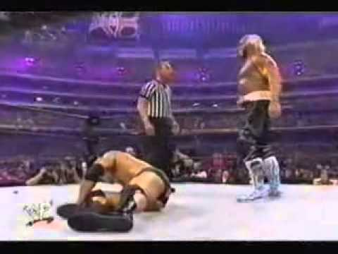 The Rock vs Hulk Hogan Wrestlemania WWE Wrestlemania X8 2002