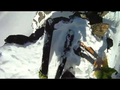 Skier Almost Dies In Extreme Cliff Fall