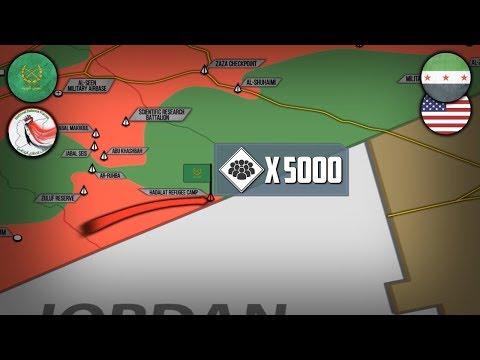 12 сентября 2017. Военная обстановка в Сирии. Сирийская армия зачищает границу с Иорданией.