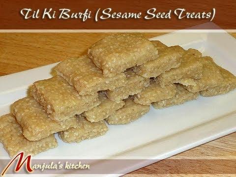 Til Burfi (Sesame Seed Treats) Indian Recipe by Manjula