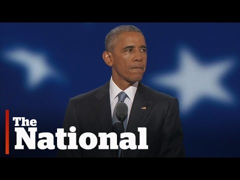 Barack Obama supports Hillary Clinton at the DNC