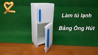 Hướng dẫn làm đồ chơi bằng ống hút - Làm tủ lạnh đồ chơi ống hút