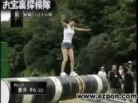 Aoi Sora On Ninja Warrior video