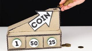 How to make Coin Sorting Machine from Cardboard | DIY Coin Sorting Machine