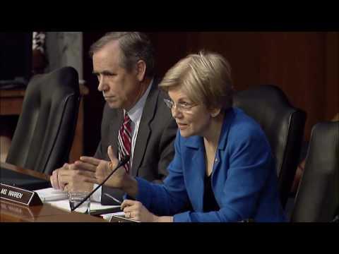 Sen. Elizabeth Warren Banking Hearing with Fed Chair Yellen on Living Wills