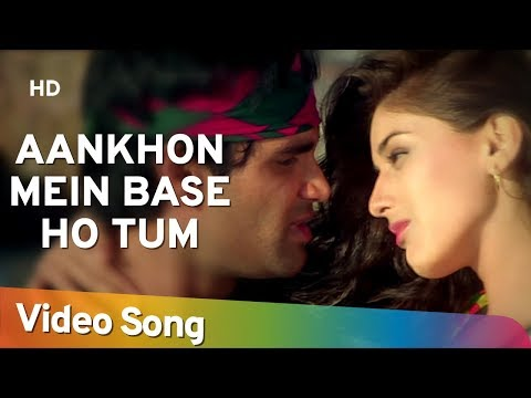 Aankhon Mein Base Ho Tum (duet) - Sunil Shetty - Sonali Bendre - Takkar - Bollywood Songs - Abhijeet video