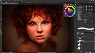 Hyper-real Redhead Speed Painting (Time-lapse) in Photoshop