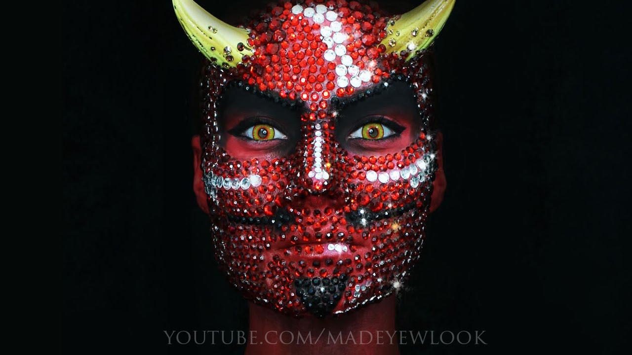 Solid Rhinestone Devil Makeup Tutorial