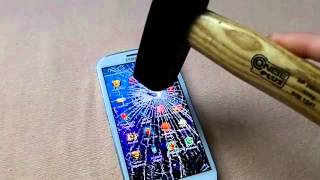 Galaxy S3's Gorilla Glass Steel Hammer Test