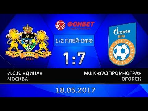 1/2 финала. Дина - Газпром-ЮГРА. 1:7. Первая игра