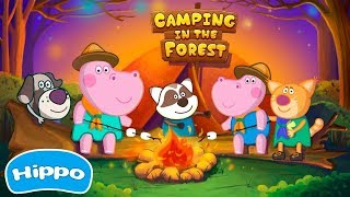 Hippo Camping In The Forest Scout adventures - Hippo Kids Games Full Episode 15 - Baby Games Video
