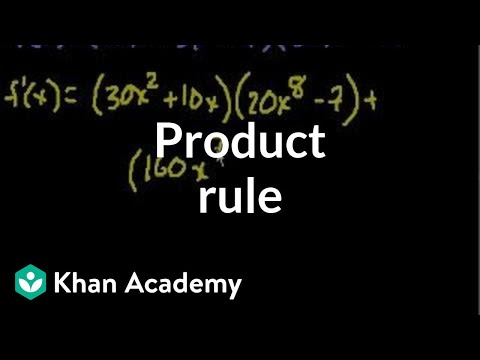 Product rule   Taking derivatives   Differential Calculus   Khan Academy
