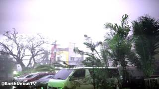 Lightning Filled Typhoon Haima / Lawin Smash Tuguegarao Philippines 4K