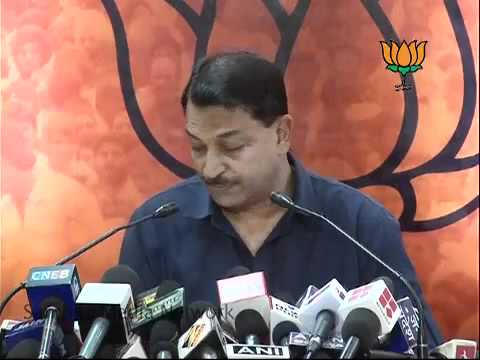 Bjp Press on Pranab mukherjee, Congress on Lokpal bill and J Dey Murder Case by Rajeev Pratap Rudy 1st Part