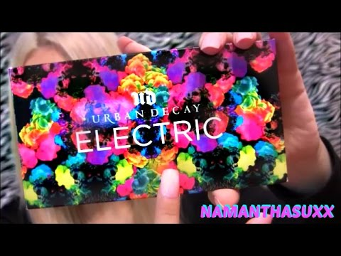 URBAN DECAY ELECTRIC PRESSED PIGMENT PALETTE REVIEW VIDEO!!!