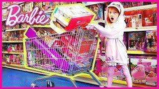 Shopping cart full of BARBIE TOYS