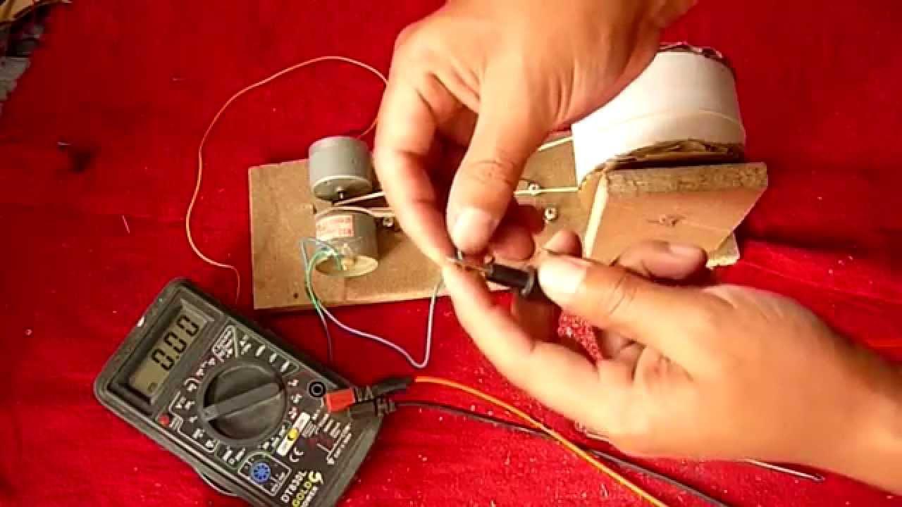 C mo hacer un generador de electricidad muy f cil de - Generador de electricidad ...