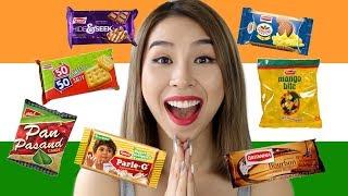 Australian Tries Indian Snacks! Tina Tries It