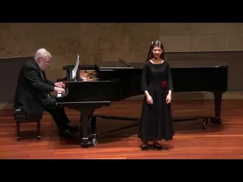 Fifteen-year-old Marie Kelly singing Maria Wiegenlied by Max Reger