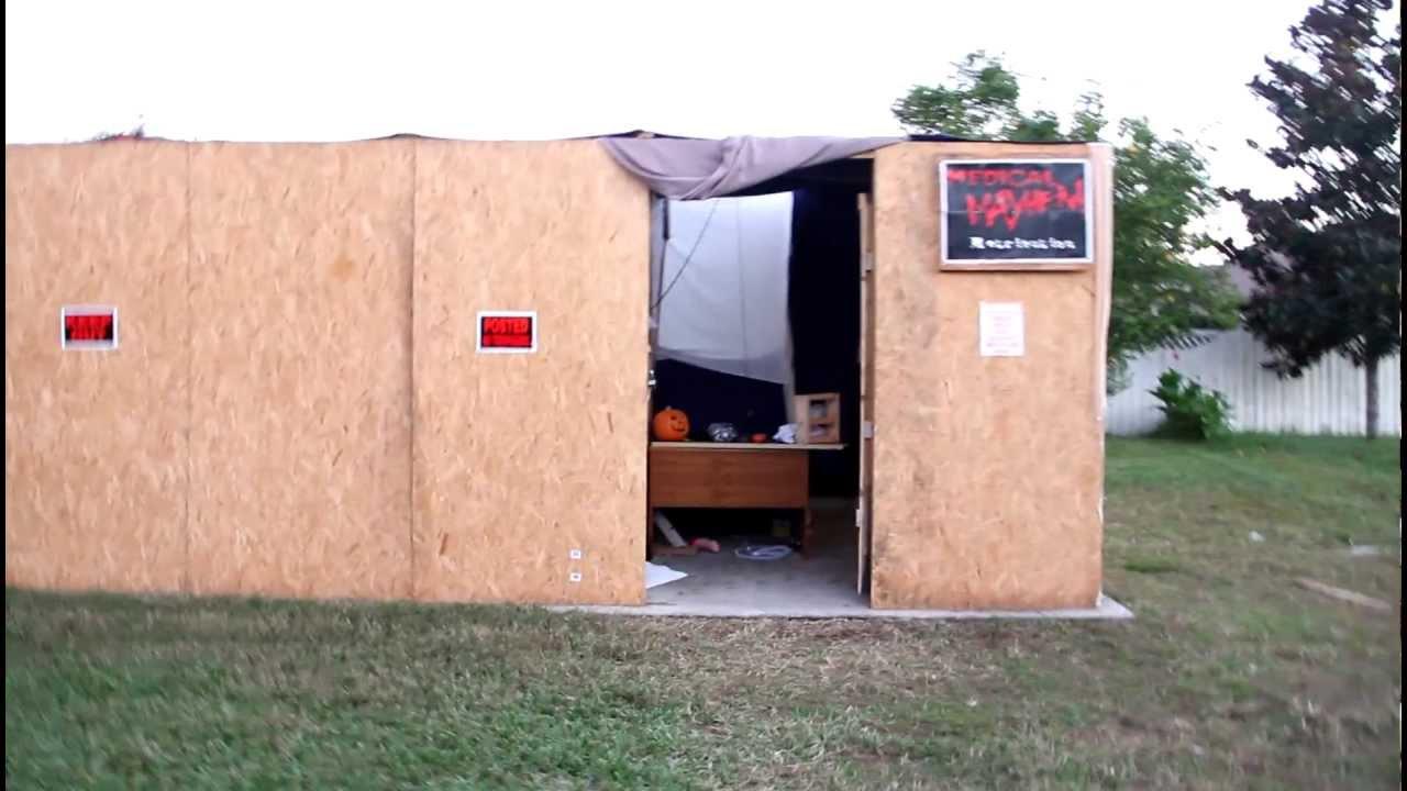Hd 1080p 2011 Backyard Haunted House Walkthrough Youtube