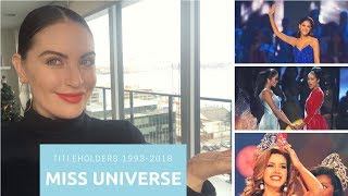 MISS UNIVERSE TITLEHOLDERS 1993-2018 | My 5 Favourite