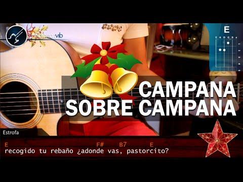 Como tocar Campana Sobre Campana Versión ORIGINAL En Guitarra Acústica HD Tutorial Acordes