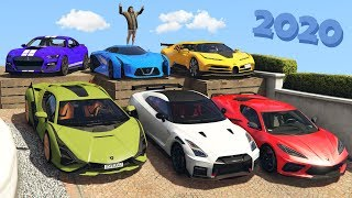 GTA 5 - Stealing Luxury Cars 2020 with Michael! (Real Life Cars #14)