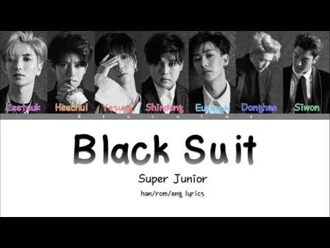SUPER JUNIOR (슈퍼주니어) - 'BLACK SUIT' Lyrics (Color Coded Han/Rom/Eng/가사) | By Deu Cutae
