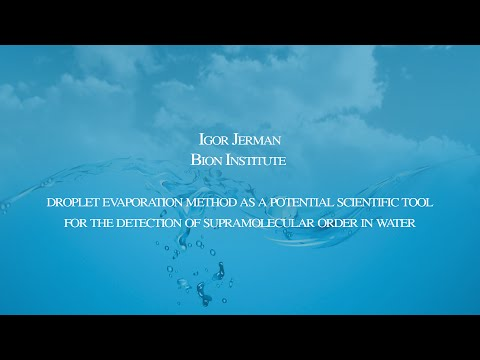 Igor Jerman – Conference on the Physics, Chemistry and Biology of Water 2014