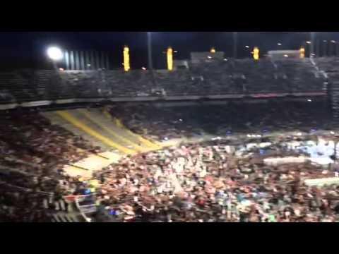 AC/DC Barcelona Stadium filling