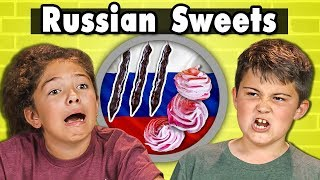 KIDS EAT RUSSIAN SWEETS | Kids Vs. Food