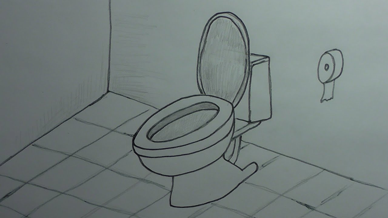 How To Draw A Toilet Youtube