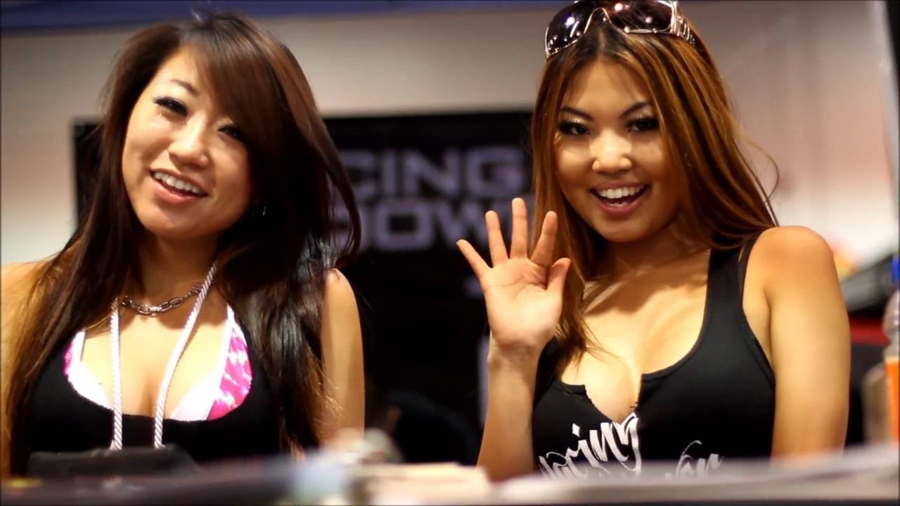 Spocom 2012 anaheim jdm import car show import models for Mimi lee chinese