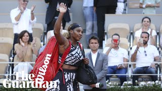 Serena Williams and Naomi Osaka react after crashing out of French Open