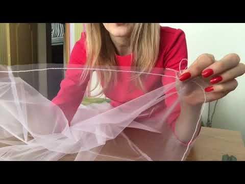 Шьём фатиновую юбку с кружевной отделкой по подолу