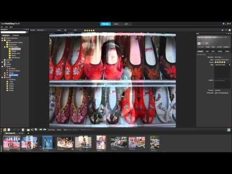 Tutorial: PaintShop Pro X5 Workspace Tour - Manage and Adjust images