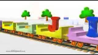 ABCD Alphabet Train song   3D Animation Alphabet ABC Train Songs for children