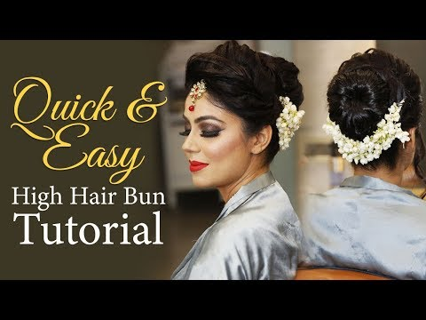 High Hair Bun Tutorial | Step by Step Quick and Easy Hairstyle Tutorial | Krushhh by Konica