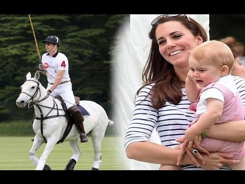Kate Middleton Brings Prince George to William's Polo Match #1 [2014]