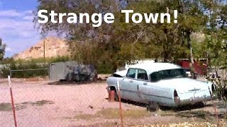 Another Strange Odd Creepy Town In Nevada Desert Near Area 51! Abandoned Cars & Trucks