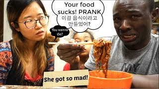 Telling Korean Wife Her Food Sucks Prank She Got Super Mad 커플몰래카메라 커플몰카