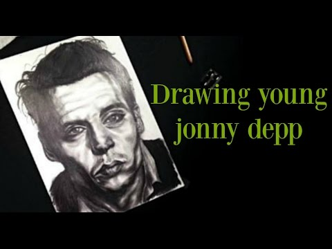 DRAWING YOUNG JONNY DEPP
