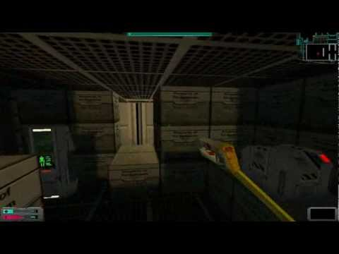 0 Lets play System Shock 2 Cargo Bay  Robots and monkeys