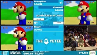 Super Mario 64 by Puncayshun, Cheese05, Simply in 1:44:18 - Awesome Games Done Quick 2016 - Part 10