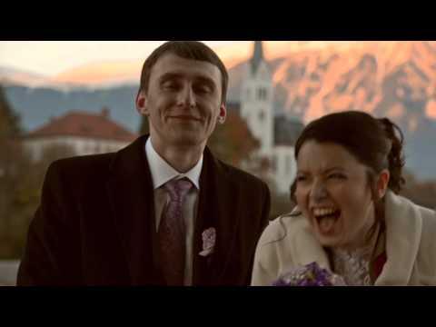 Dinara and Aleksander: wedding in the lake Bled