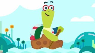 Row Row Row Your Boat | KinToons Cartoon | Videos For Babies by Kids Baby Club