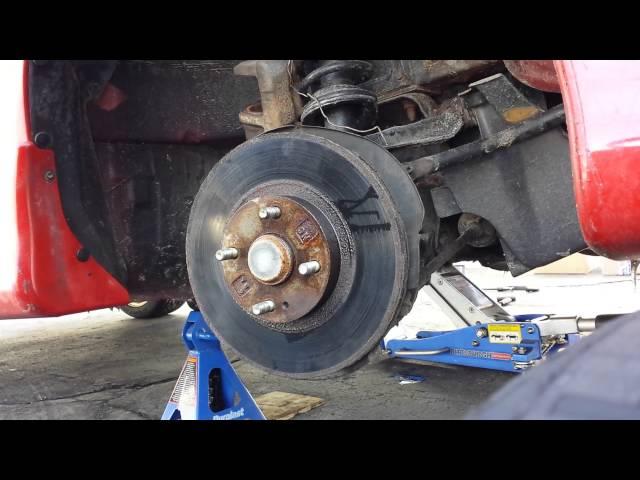 2004 Mazda Miata Seized Rotor Removal Trick