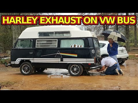 VW Bus with Harley Muffer